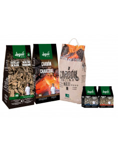 PACK CHARCOAL, WOODCHIPS...