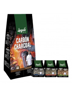 PACK CARBÓN VEGETAL 10KG +...