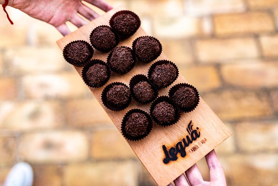 Bombones de chocolate ahumado